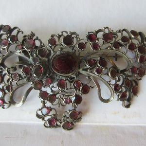 Victorian Garnet Butterfly Brooch Pendant